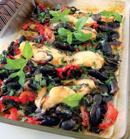 Γίγαντες με ψάρι στο φούρνο