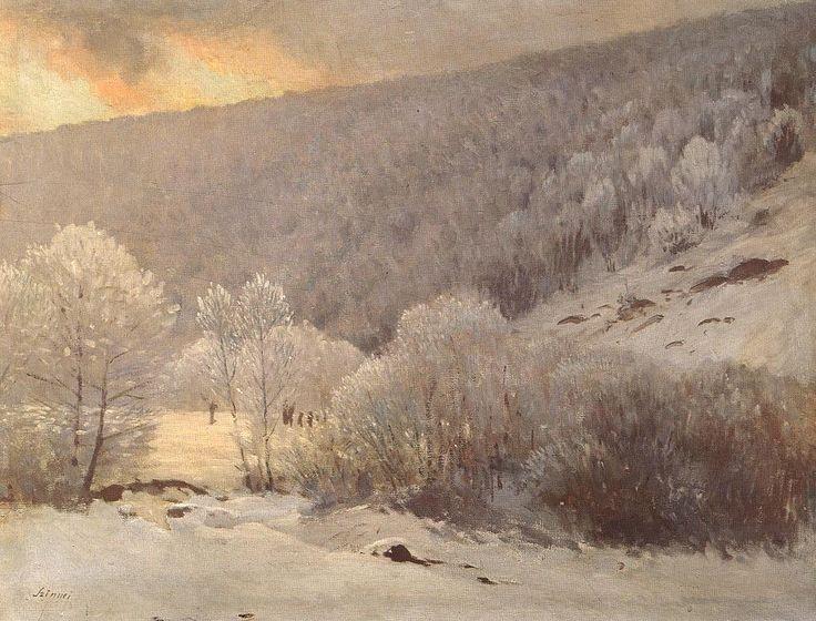 Winter by Pál Szinyei Merse