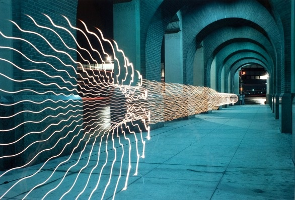 Eric Staller - Photograph and light drawing - 15-7/8 x 19-7/8 inches - Collection of the Madison Museum of Contemporary Art. Museum Purchase Fund.