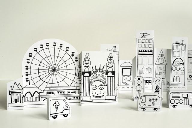 Paper City – Sydney Opera House and Luna Park - Made by Joel (free printable)