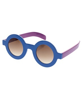 ASOS Round Colour Block Sunglasses  because expensive glasses and little hands are not the best combination!