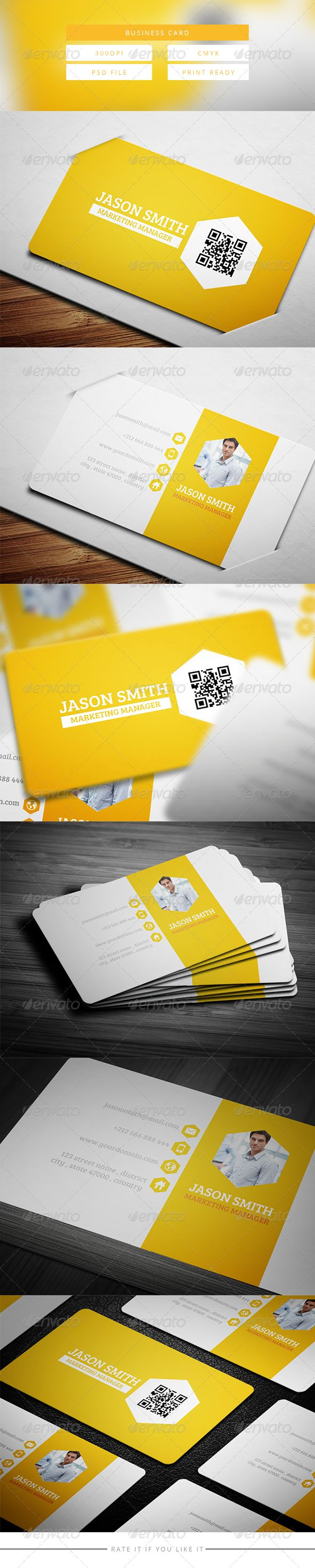 117 best business cards psd with qr code images on pinterest creative business card 7 reheart Choice Image