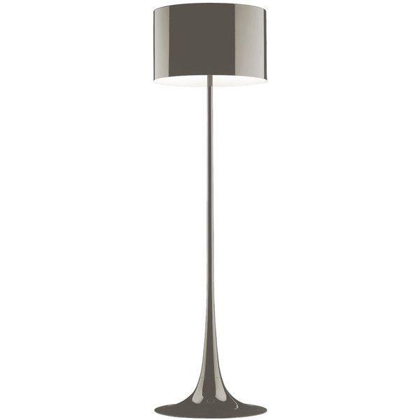 Flos Spun Floor Lamp Mud ($1,625) ❤ liked on Polyvore featuring home, lighting, floor lamps, brown, brown lamps, flos, funky lighting, flos lamp and flos floor lamp