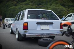 TE72 Toyota corolla wagon on cult classic BBS RS wheels