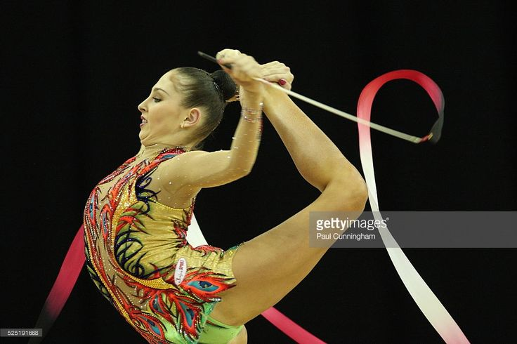 Visa Federation of International Gymnastics (FIG) - Daria Kondakova of Russia performs with the Ribbon during the Women's Rhythmic Olympic qualification event at the O2 Arena London 17 January 2012 --- Image by �� Paul Cunningham/Corbis
