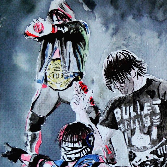Same piece, practicing different Water & Ink combos. #PhenomenalOne #AJStyles #Muddyyorksidhu
