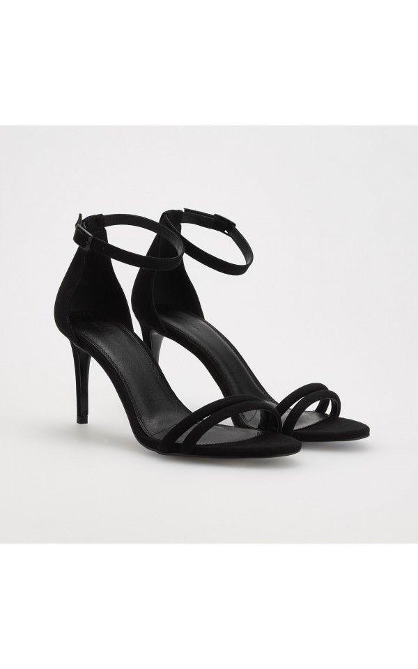 Sandały na obcasie, BUTY, czarny, RESERVED