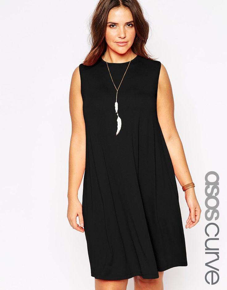 ASOS+CURVE+Sleeveless+Swing+Dress