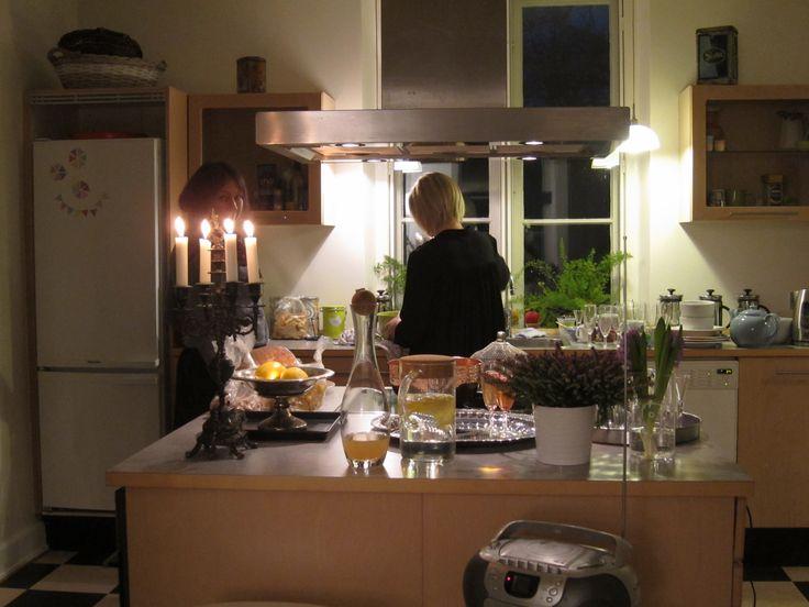 Preparing dinner ... @Villa Gress - retreat for writers
