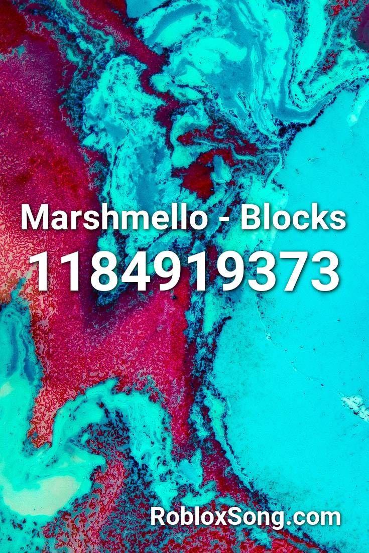 Marshmello Blocks Roblox Id Roblox Music Codes In 2020 Songs