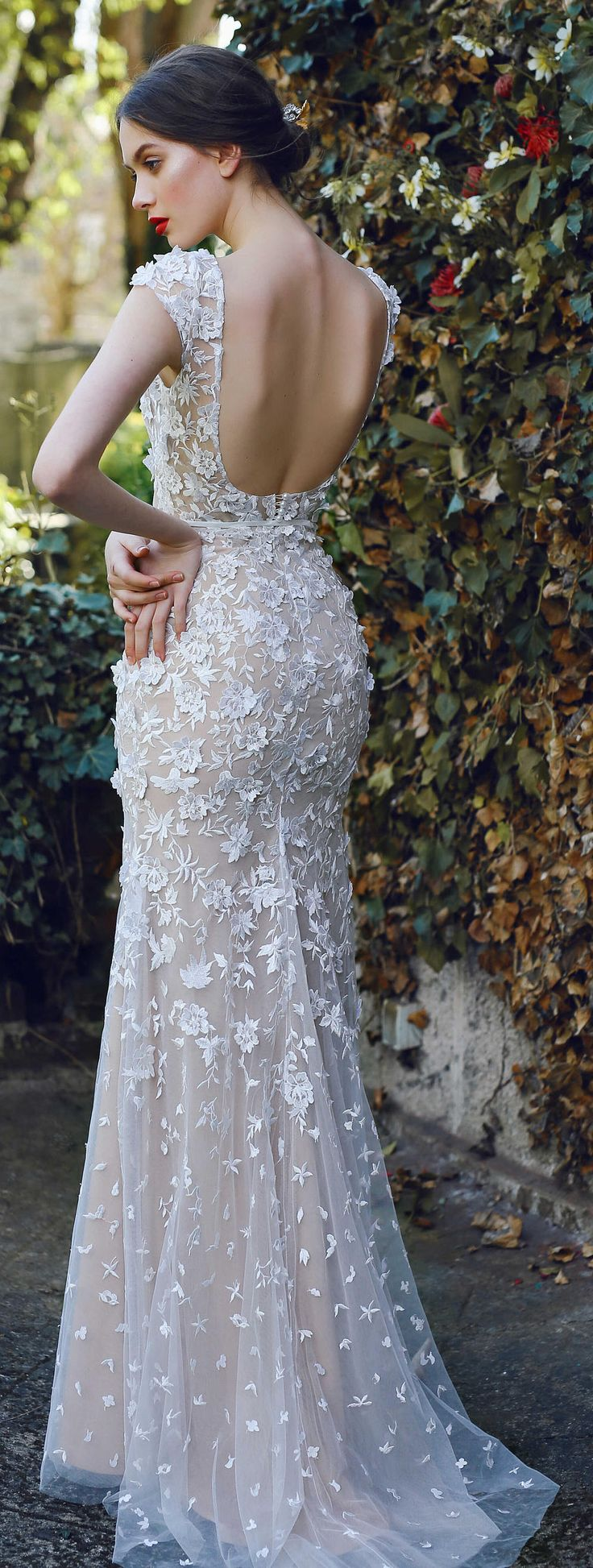Bridal gown VELARI, wedding dress, unique wedding gown, lace wedding, simple wedding dress, bride dress, lace gown, boho wedding dress