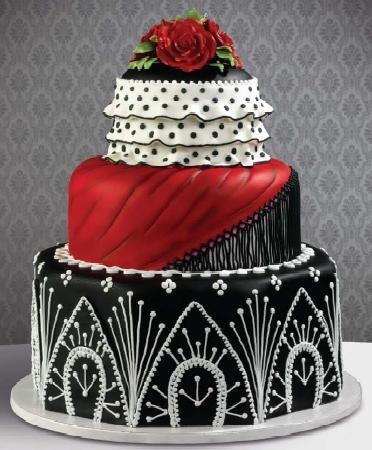 torta negro y rojo