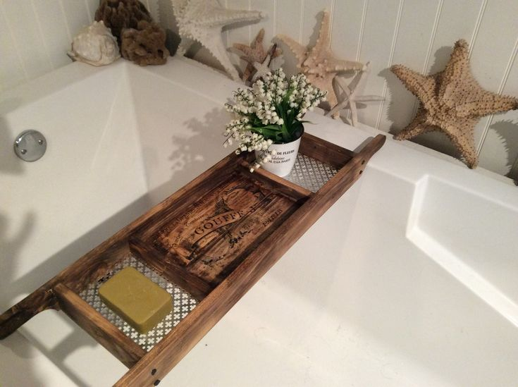 Bath Tray   Made to Order   Recycled Pallet Wood   Rustic Style Bath Rack    Old World Writing   Dark Stained Wood Bath Caddy. 17 Best ideas about Bath Rack on Pinterest   Baths  Bath and Lifestyle