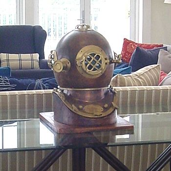 Diving Helmet - In Shiny Copper or Brass | Complete Pad