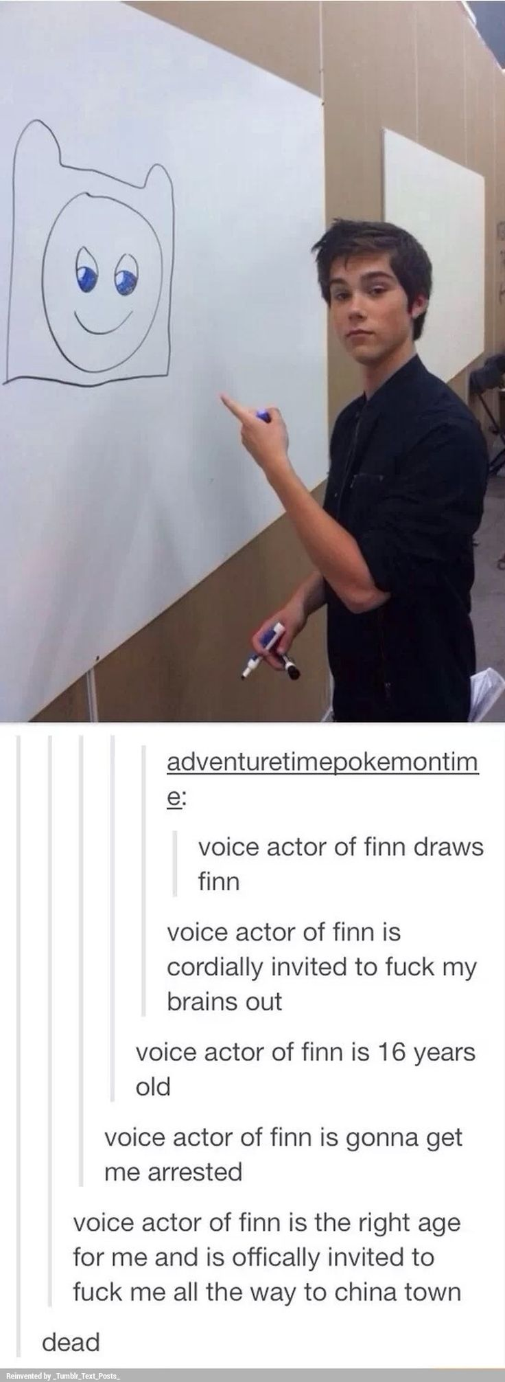 Voice actor of Finn can be my official rebound lol