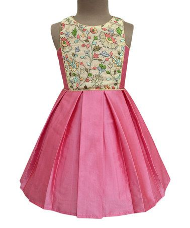 If sleeping beauty had princess clothes as a child, I think she would have worn this! Look what I found on #zulily! Sandstone Amelia Floral Olivia Dress - Infant, Toddler