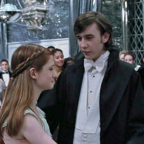 Ginny And Neville At The Yule Ball I'm watching goblet of fire right now
