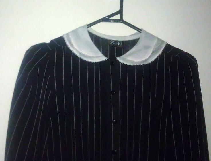 Vintage Black Striped Dress Solo San Fransico 1980s