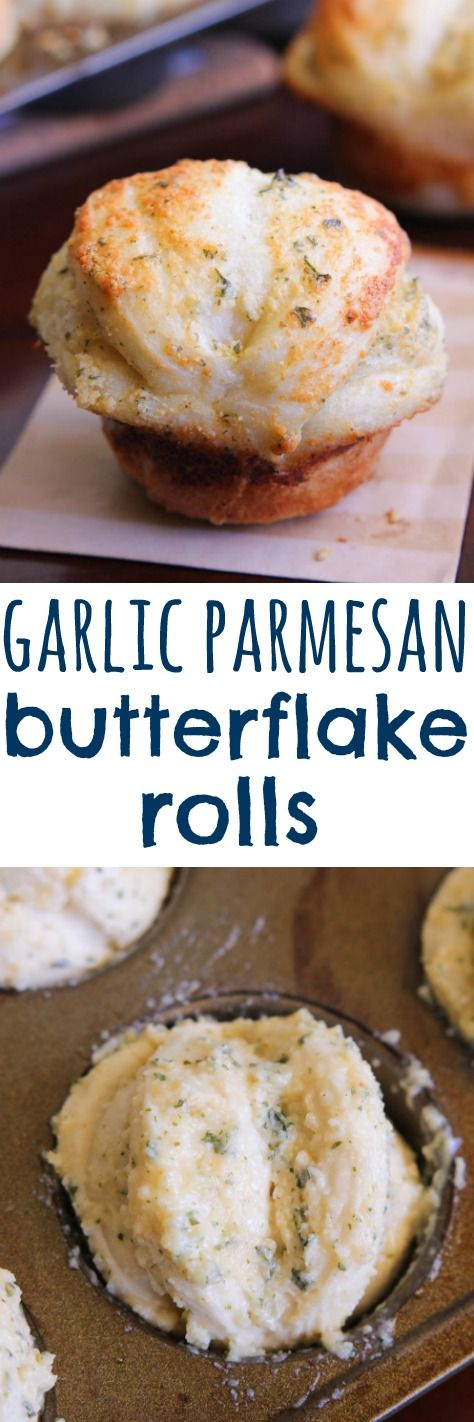 Shortcut Garlic Parmesan Butterflake Rolls