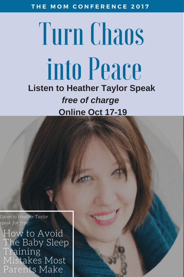 """""""How to Avoid the Baby Sleep Training Mistakes Most Parents Make"""" - Join me at the Mom Conference and you can hear Heather Taylor's Speech FREE of charge