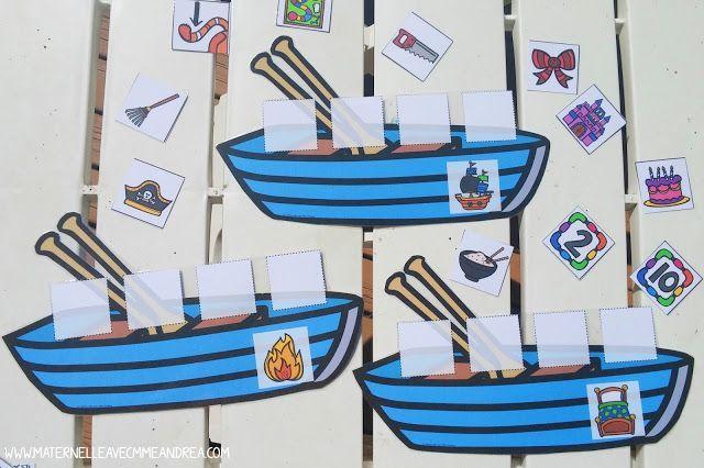 French rhyme time - FREE French rhyming game - Les mots dans un bateau