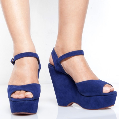 Eight Shoes - Jacy Blue Open Toe Wedges - Rp. 279.500