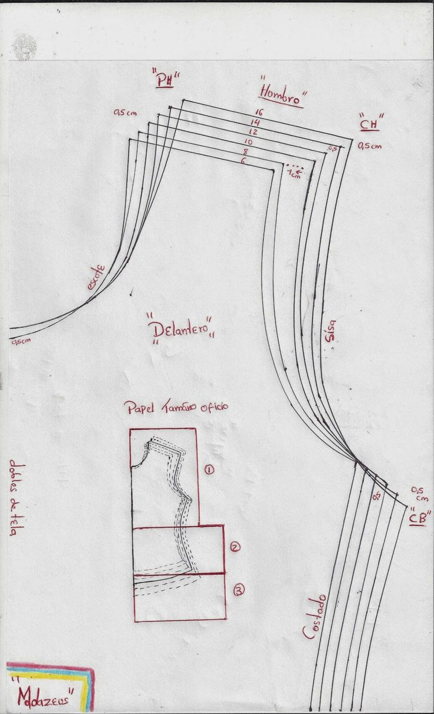modazeus: blusa básica para niñas escalada para telas con el...