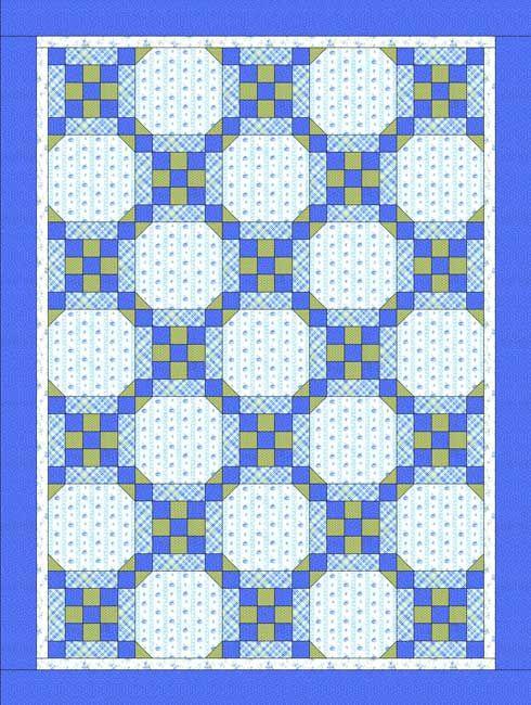 Stitch a batch of my easy Framed Nine Patch quilt blocks.: Make a Framed Nine Patch Baby Quilt