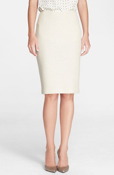 St. John Collection Vertical Mini Loop Knit Pencil Skirt available at #Nordstrom