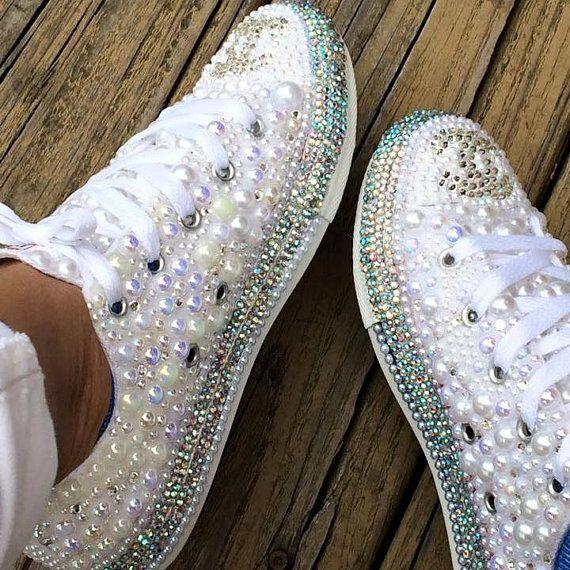 Bling Converse By Inspiredbyjadeshop On Etsy Diy Shoes