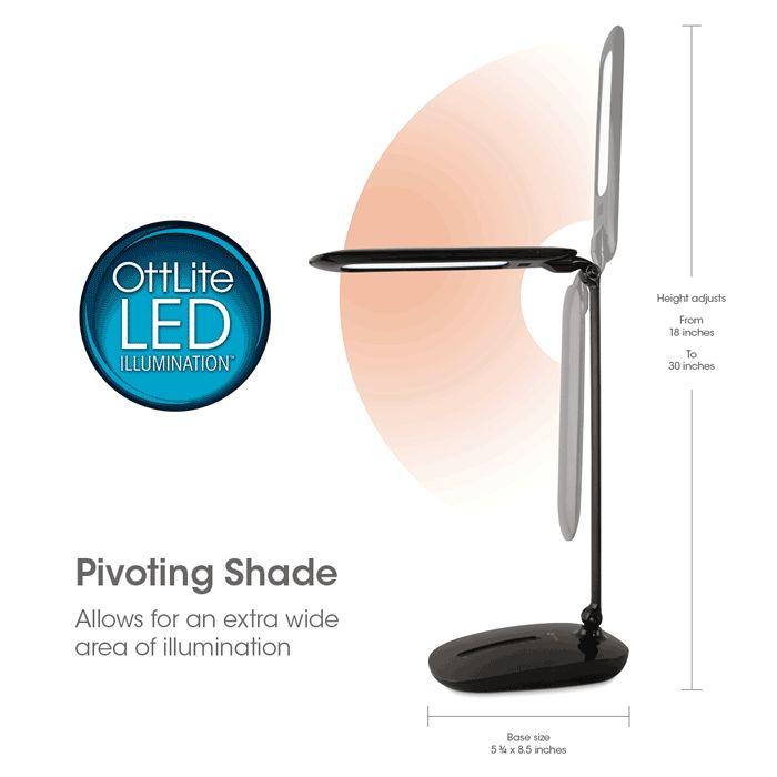 LED Desk Lamp with Sliding Dimmer and USB - 33 Best Ottlite Lamps Images On Pinterest Desks, Led Desk Lamp