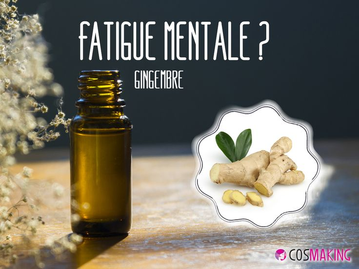 Fatigue mentale ? Une goutte d'huile essentielle de Gingembre (Zingiber officinale) en massage sur les tempes. #Aromathérapie #HuileEssentielle #Astuce #Gingembre