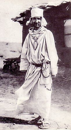 Charles Eugène de Foucauld was a French Catholic religious & priest living among the Tuareg in the Sahara in Algeria. He was assassinated outside the fort he built for the protection of the Tuareg, & is considered a martyr. His inspiration led to the founding of the Little Brothers of Jesus. Charles de Foucauld was an officer of the French Army in N Africa where he first developed his strong feelings about the desert & solitude.