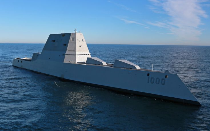 https://flic.kr/p/AZn7H7 | Future USS Zumwalt's first underway at sea | ATLANTIC OCEAN (Dec. 7, 2015)  The future USS Zumwalt (DDG 1000) is underway for the first time conducting at-sea tests and trials in the Atlantic Ocean Dec. 7, 2015. The multimission ship will provide independent forward presence and deterrence, support special operations forces, and operate as an integral part of joint and combined expeditionary forces.  (U.S. Navy photo courtesy of General Dynamics Bath Iron…