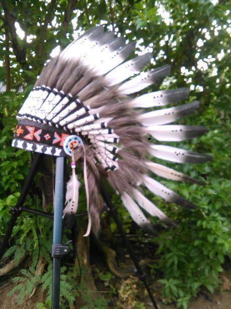 Kids Chief Indian Hat Children's Indian by TheLandOfCockaigne