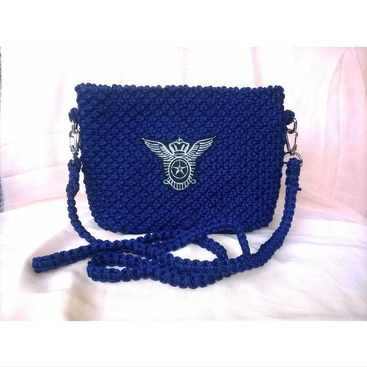 #talikur #tastalikur #macrame #bag #slingbag #navy #patches #fashionitem #style #mode