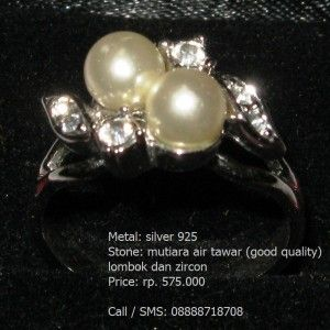 Jual Cincin Mutiara Air Tawar Lombok (Good Quality)