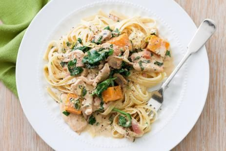 Фетучини с курицей и тыквой в горчичном соусе рецепт :: JV.RU