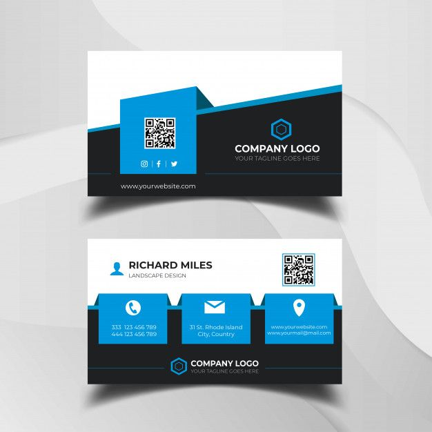 Business Card Design Template Premium Ve Premium Vector Freepik Vector Logo Business Card B In 2020 Business Card Template Design Card Design Design Template