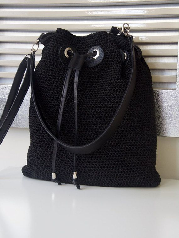 Black Shoulder Bag by PELLSatelier on Etsy