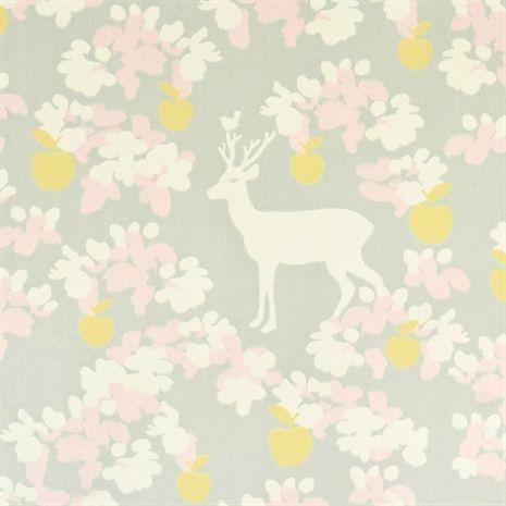 Majvillan, Behang, Apple Garden, grijs/geel/wit Behang Behang & muurdecoraties Kinderkamers online bij Lekmer.nl