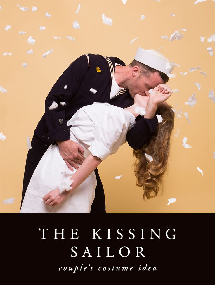 The Kissing Sailor DIY Couples' Halloween Costume Idea