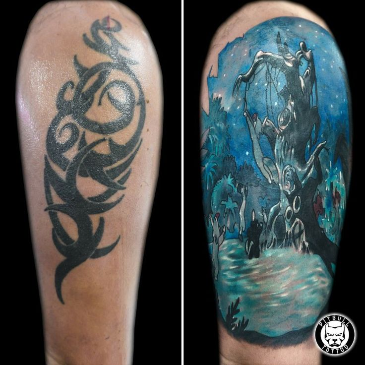 Cover Up Tattoo #coverup #coveruptattoo #cover #colortattoo