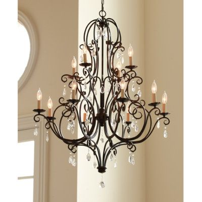 love the wrought iron with crystals