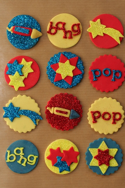 Bonfire night cake toppers