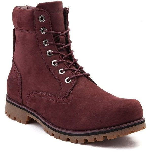 "Mens Timberland 6"" Newmarket Boot ($99) ❤ liked on Polyvore featuring men's fashion, men's shoes, men's boots, men's work boots, timberland mens boots, mens boots, mens long boots, mens work boots and timberland mens work boots"