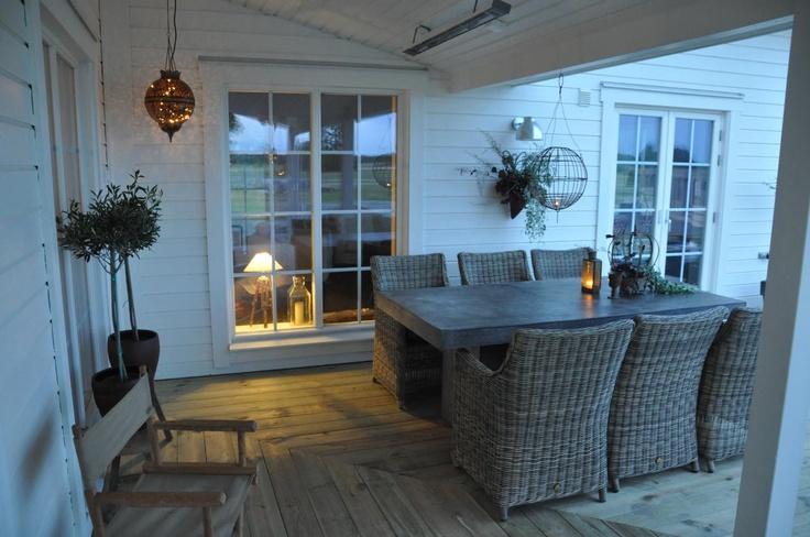 Den Vita Dröm Gården: uteplats