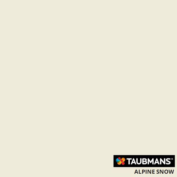 Taubmans Colour Alpine Snow: for exterior woodwork