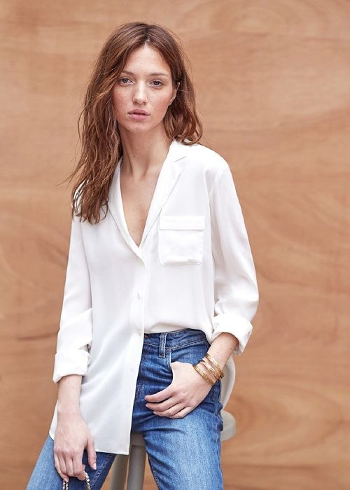 Chemise Florence // Collection Printemps Été  ww.sezane.com #sezane #lookbook #collection #printemps #ete #rome #chemise #florence #ladolcevita