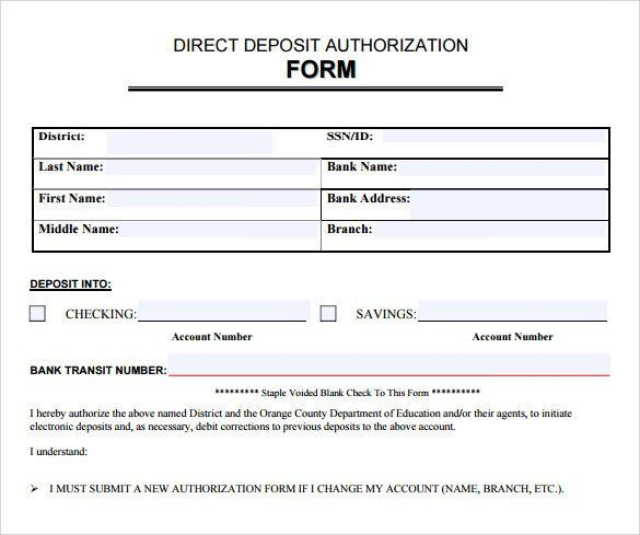 28 Direct Deposit Form Template Word In 2020 Lesson Plan